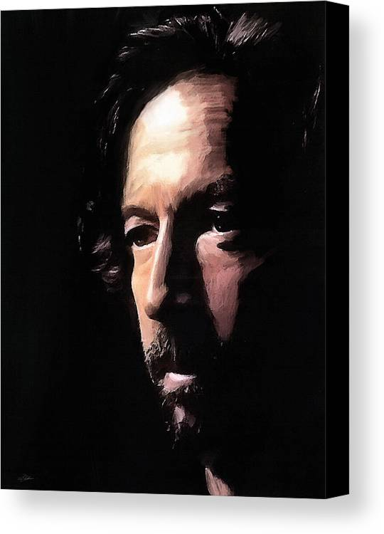 Eric Clapton Canvas Print featuring the digital art Journeyman by Peter Chilelli