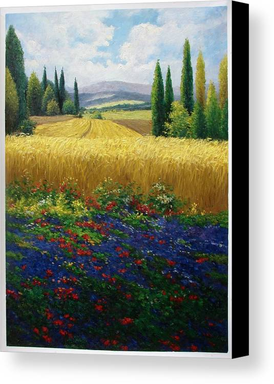 Colorful Canvas Print featuring the painting Joy by Aziz Mohammed