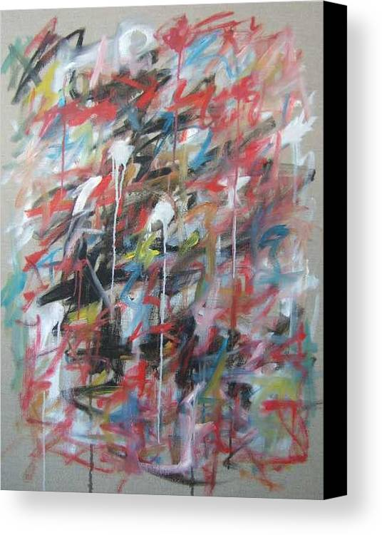 Abstract Canvas Print featuring the painting Large Abstract No 4 by Michael Henderson