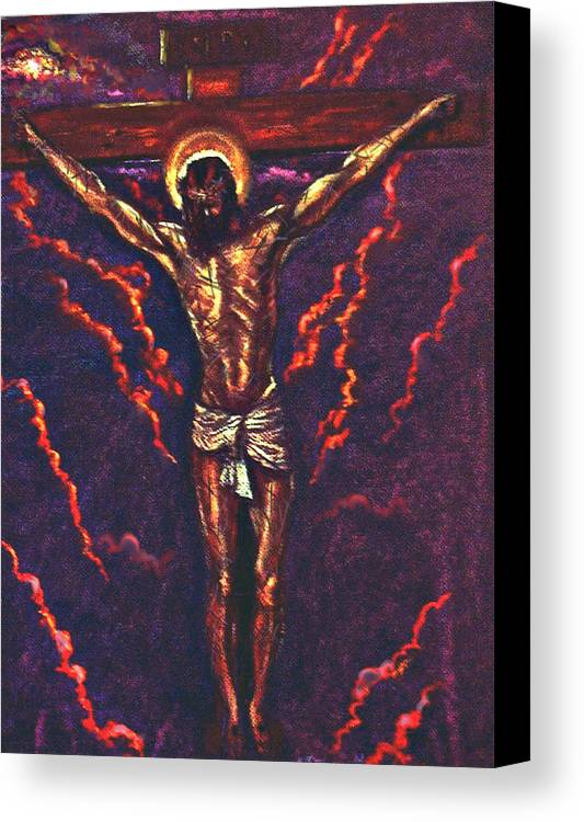 Christ Canvas Print featuring the pastel Lest We Forget by Tommy Winn