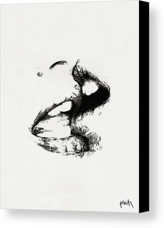 Kiss Canvas Print featuring the drawing Lost Lovers by Turtle Caps