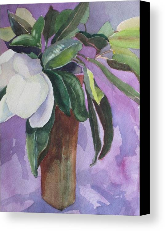 Magnolia Canvas Print featuring the painting Magnolia by Elizabeth Carr