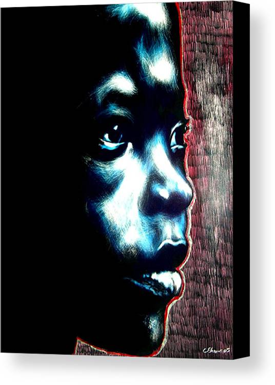 Canvas Print featuring the mixed media Master Blue by Chester Elmore
