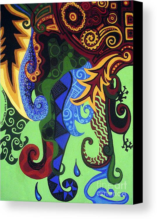Metaphysical Fauna Canvas Print featuring the painting Metaphysical Fauna by Genevieve Esson