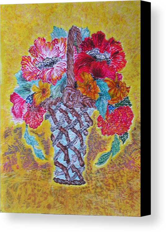 Floral Canvas Print featuring the painting Mexican by John Vandebrooke