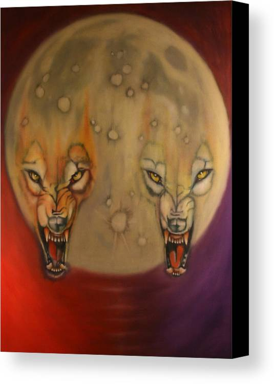 Major Arcana Canvas Print featuring the painting Moon by Roger Williamson