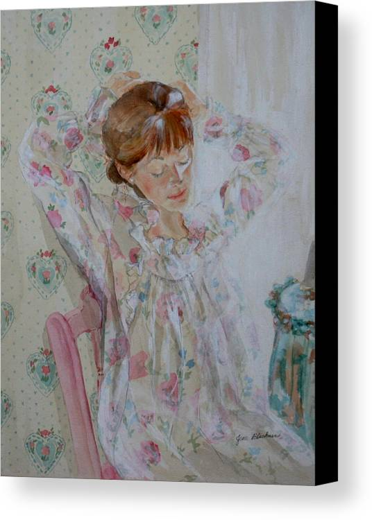 Morning Canvas Print featuring the painting Morning Ritual by Jean Blackmer