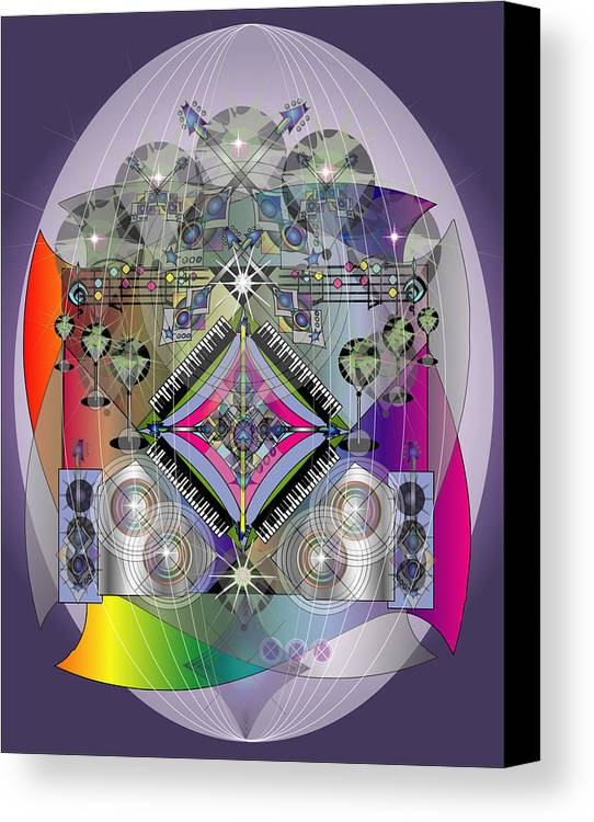 Giclee Canvas Print featuring the digital art Music Fabrege by George Pasini