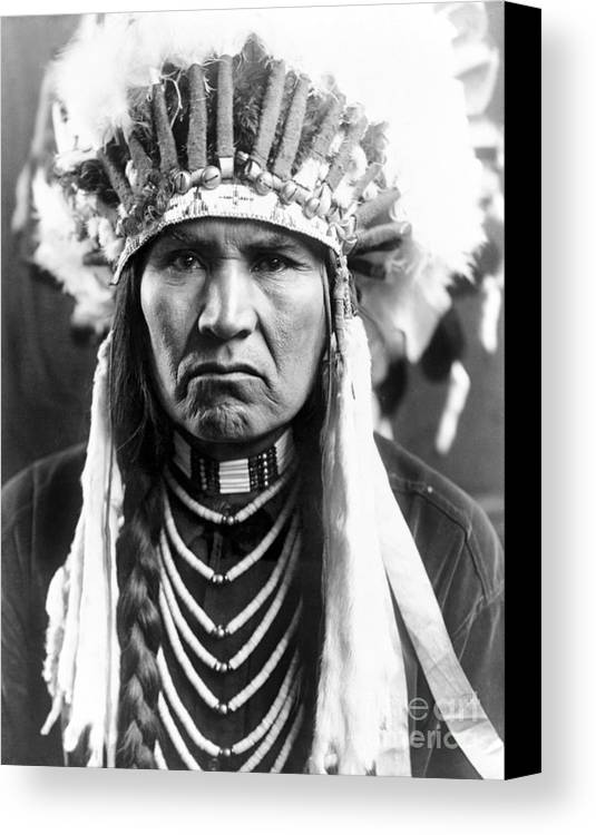 1910 Canvas Print featuring the photograph Nez Perce Native American by Granger