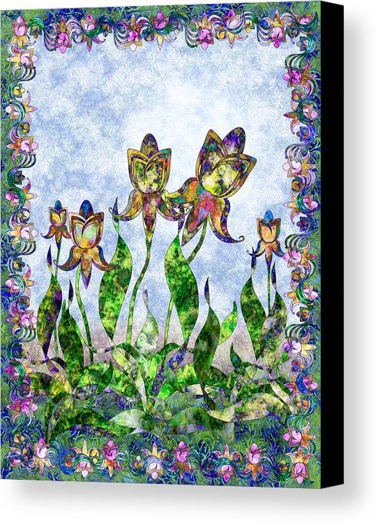 Iris Canvas Print featuring the digital art Nouveau 3 by Gae Helton