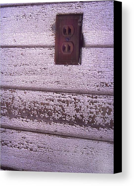 Cn_fo Canvas Print featuring the photograph Old Wall Outlet by Curtis J Neeley Jr