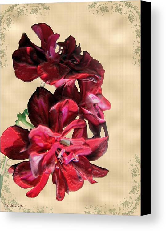 Flowers Canvas Print featuring the painting Penny Postcard by RC DeWinter