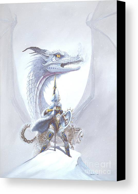 Dragon Canvas Print featuring the painting Polar Princess by Stanley Morrison