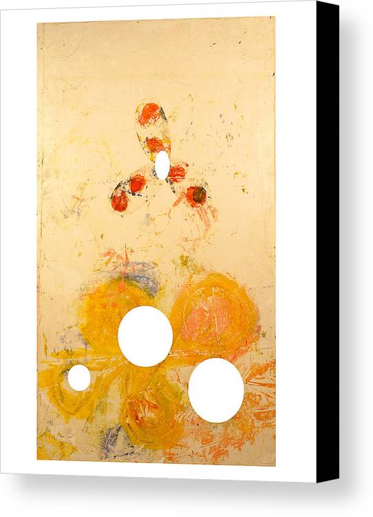 Abstract Canvas Print featuring the painting Punctuations by Howard Goldberg