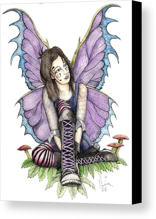 Gothic Fairy Canvas Print featuring the painting Purple Laces by Preston Shupp