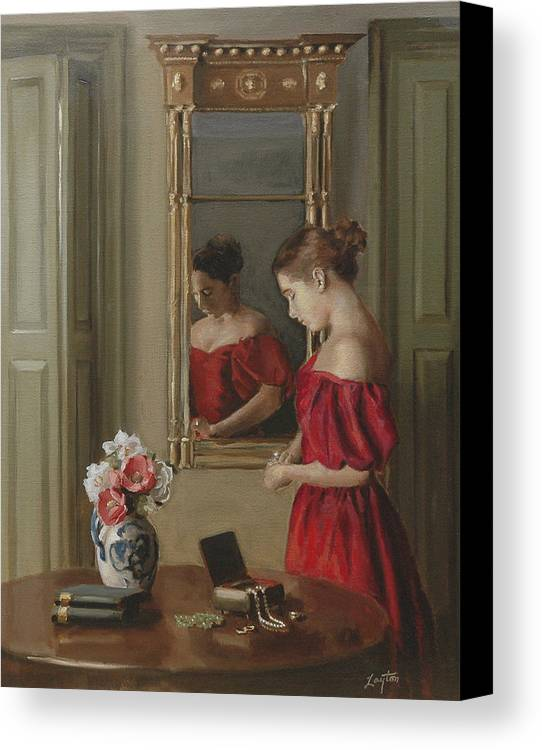 Realism Canvas Print featuring the painting Reflection by Shelley Thayer Layton
