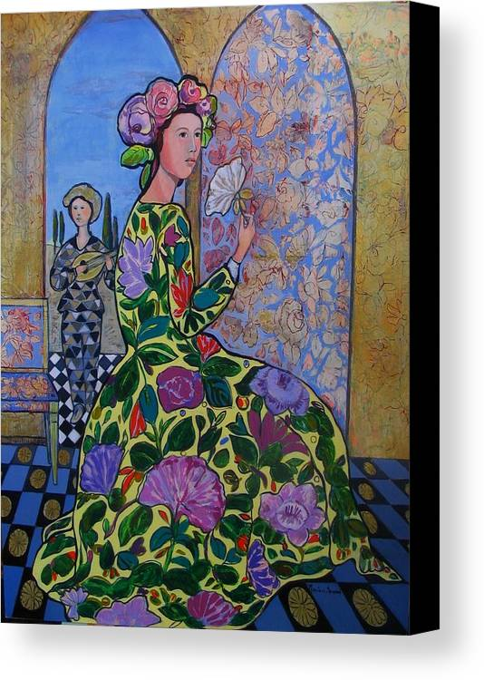 Remembering The Flower Door Canvas Print featuring the painting Remembering The Flower Door by Marilene Sawaf