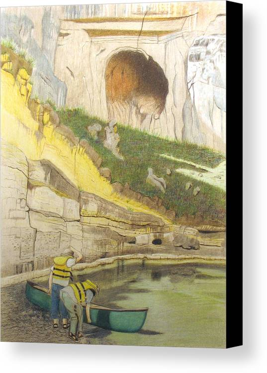 River Canvas Print featuring the painting River Adventure by Myrna Salaun