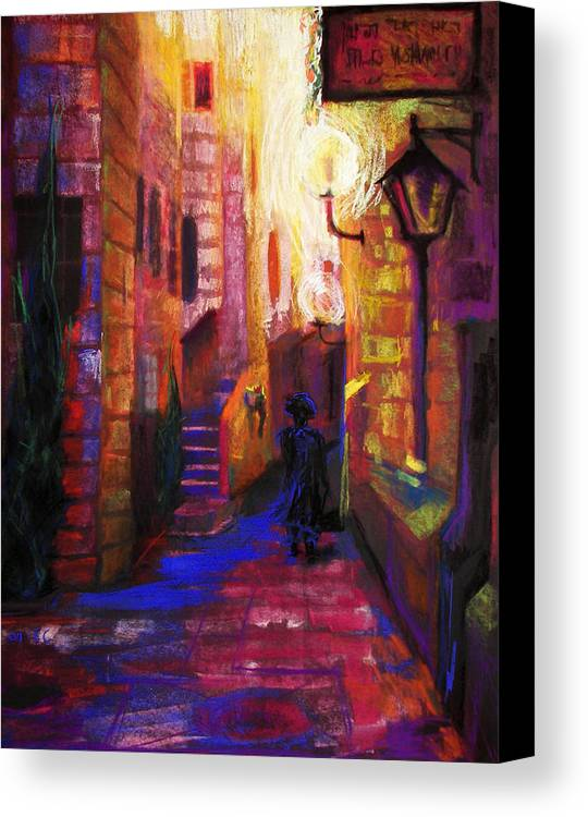 Impressionism Canvas Print featuring the painting Shabbat Shalom by Talya Johnson