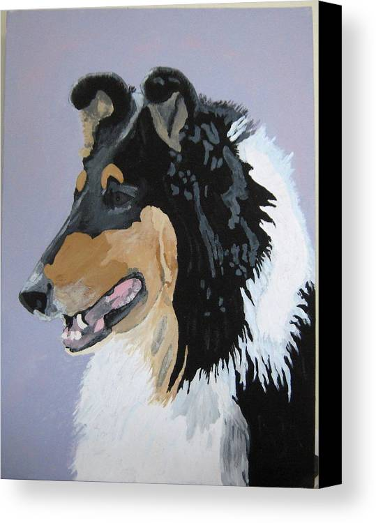 Dogs Canvas Print featuring the painting Sierra by Wendy Jackson