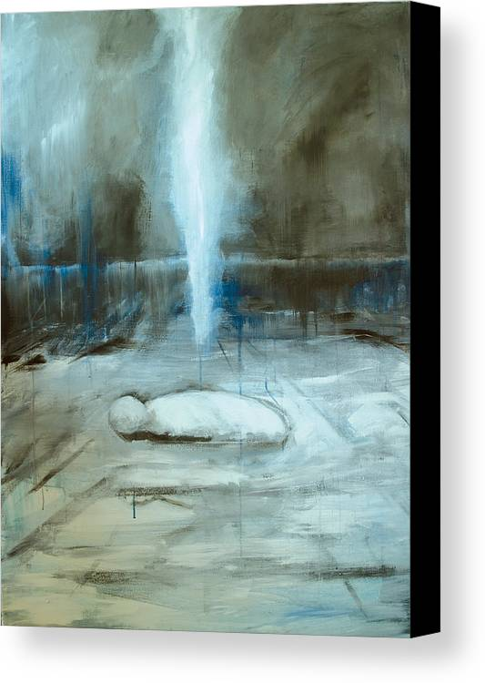 Expressionism Canvas Print featuring the painting Sleep No More by Cecilia August Sand