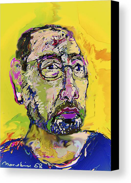 Self Portrait Canvas Print featuring the painting Sp42508 by Noredin Morgan