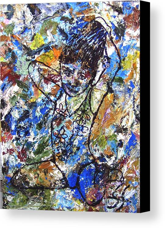 Abstract Canvas Print featuring the painting Spirits Of My Palette - Christina by Santiago Chavez