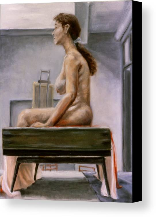 Woman Canvas Print featuring the painting Still by John Clum