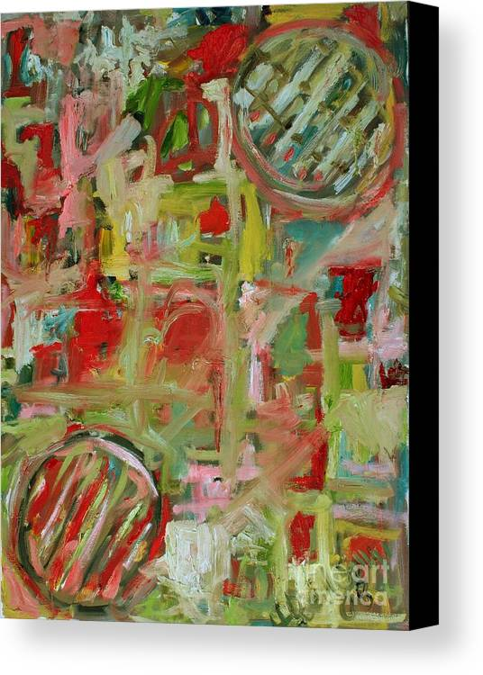 Abstract Canvas Print featuring the painting Still Life With Fruit by Michael Henderson
