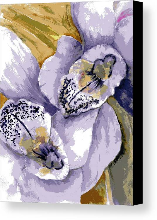 Flower Canvas Print featuring the painting Sweet Orchids by Marilyn Barton