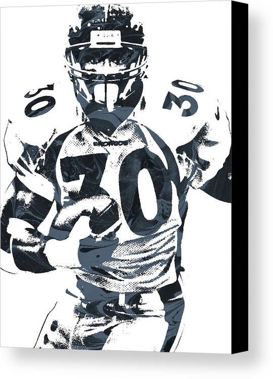 Terrell Davis Denver Broncos Pixel Art Canvas Print / Canvas Art by ...