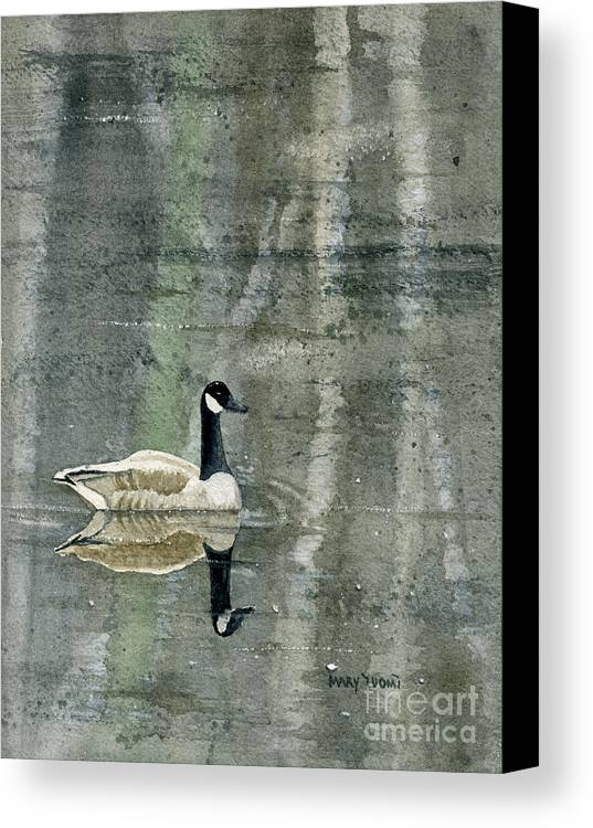 Canada Canvas Print featuring the painting The Canadian Goose by Mary Tuomi