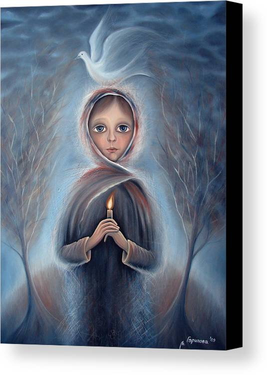 Child Canvas Print featuring the painting The Child In My Name by Liliya Garipova