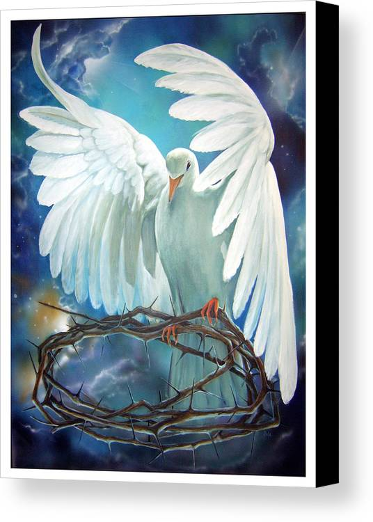 Dove Canvas Print featuring the painting The Dove by Larry Cole