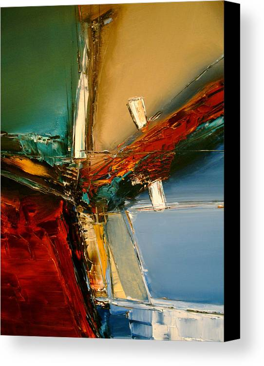 Abstract Canvas Print featuring the painting The Innocence Slips Away by Stefan Fiedorowicz