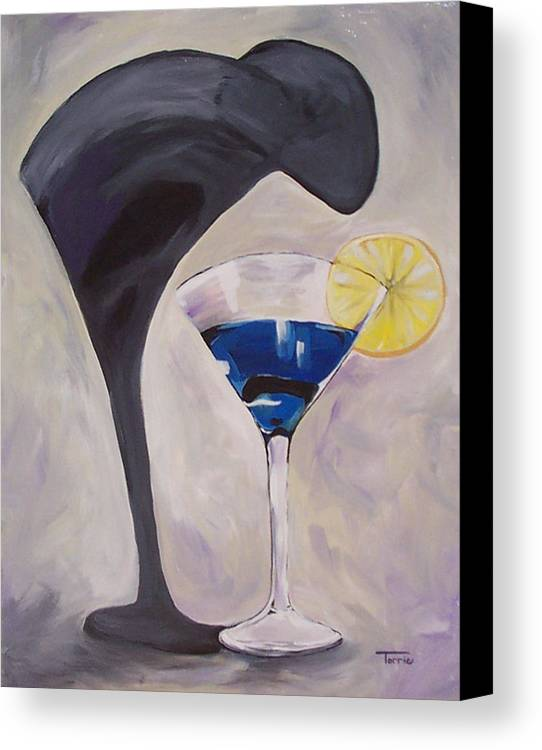 Martini Canvas Print featuring the painting The Shadow - Two by Torrie Smiley