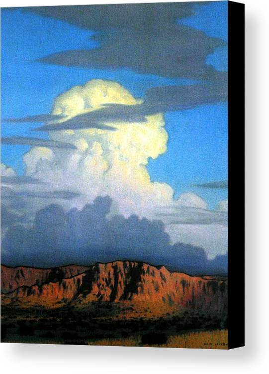 Weather Canvas Print featuring the painting Thunderhead by Kevin Lawrence Leveque