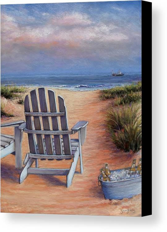 Landscape Canvas Print featuring the pastel Time To Chill by Susan Jenkins