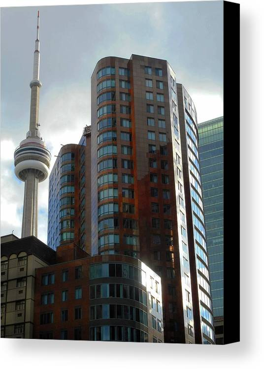 Toronto Canvas Print featuring the photograph Toronto 1 by Ron Kandt