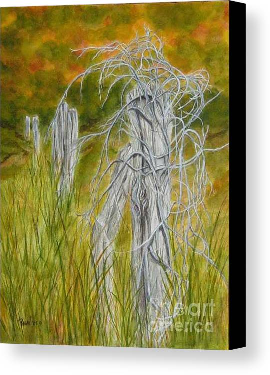 Landscape Canvas Print featuring the painting Twisted by Regan J Smith