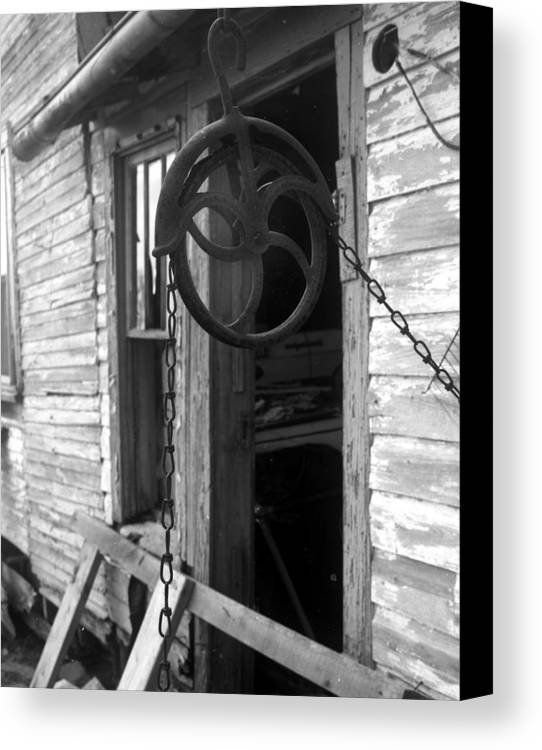 Ansel Adams Canvas Print featuring the photograph Waterpulley by Curtis J Neeley Jr
