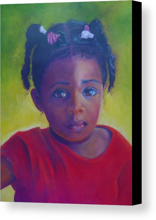Child Canvas Print featuring the painting Where Is My Mommy by Merle Blair