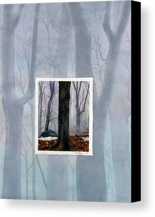 Winter Canvas Print featuring the painting Winter by Nancy Ethiel