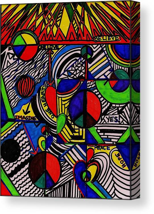 Peace Canvas Print featuring the mixed media Advocate Peace by Wendie Busig-Kohn