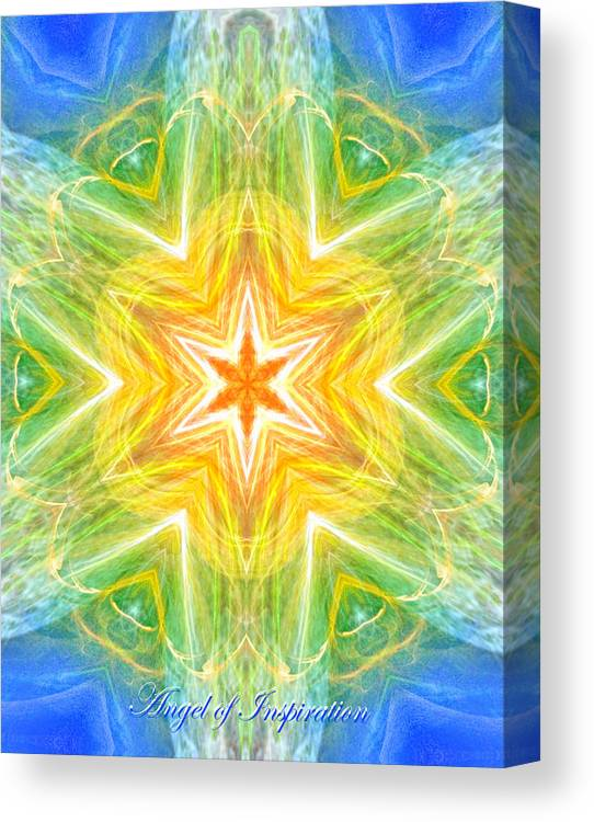 Angel Canvas Print featuring the digital art Angel Of Inspiration by Diana Haronis