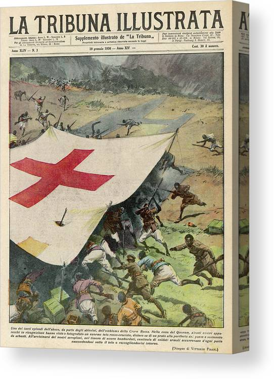 Munitions Canvas Print featuring the drawing Ethiopians Conceal Men And Munitions by Mary Evans Picture Library