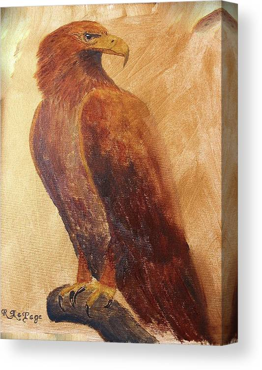 Golden Eagle Canvas Print featuring the painting Golden Eagle by Richard Le Page
