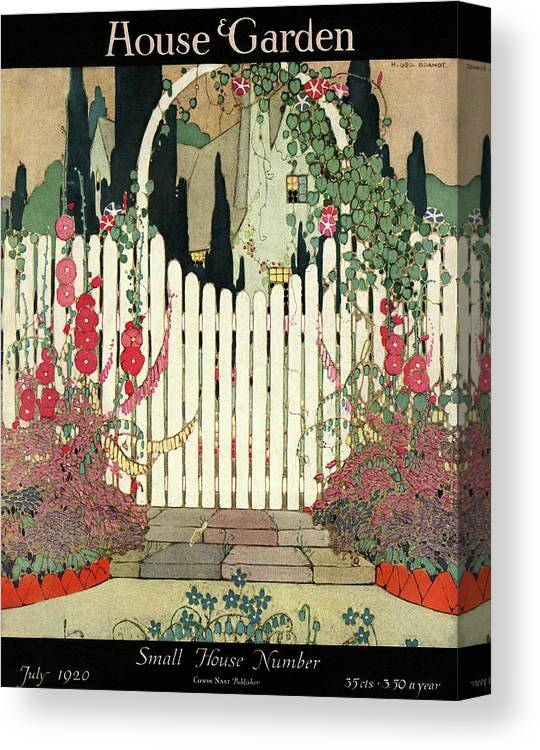 House And Garden Canvas Print featuring the photograph House And Garden Small House Number by H. George Brandt
