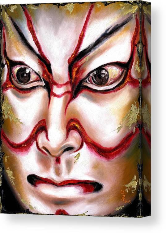 Kabuki Canvas Print featuring the painting Kabuki One by Hiroko Sakai