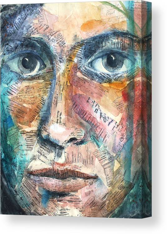 Art Canvas Print featuring the painting Listperson IIi by Patricia Allingham Carlson